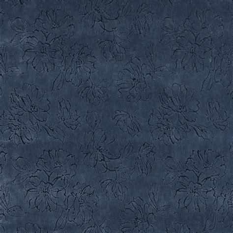 Cobalt Blue Velvet Upholstery Fabric by Cobalt Blue Flower Blossom Texture Microfiber Upholstery