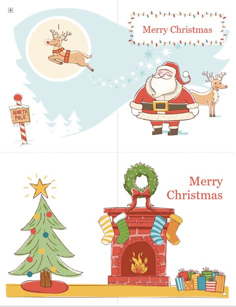 Merry Card Word Template by Card Template Free Word Templates