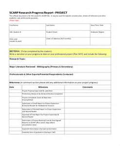 Sample Research Project Report Progress Report Templates 37 Free Sample Example