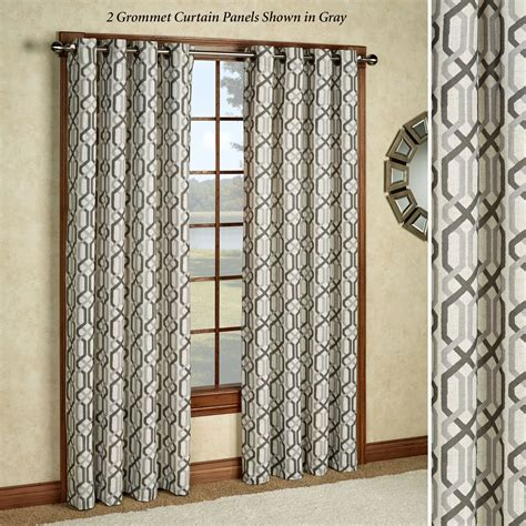 patterened curtains creston patterned grommet curtain panels