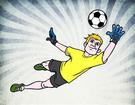 il portiere di calcio disegno portiere colorato da utente non registrato il 19