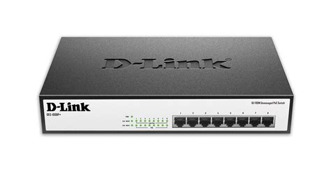D Link Poe Switch Hub Des 1018mp 8 port 10 100 unmanaged desktop or rackmount poe switch des 1008p d link