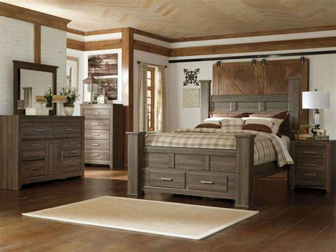 ashley furniture  juararo modern queen king poster storage bed bedroom set ebay