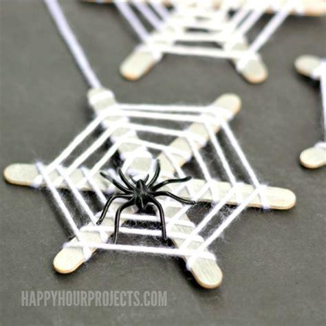 spider craft crafts for craft stick spiderwebs