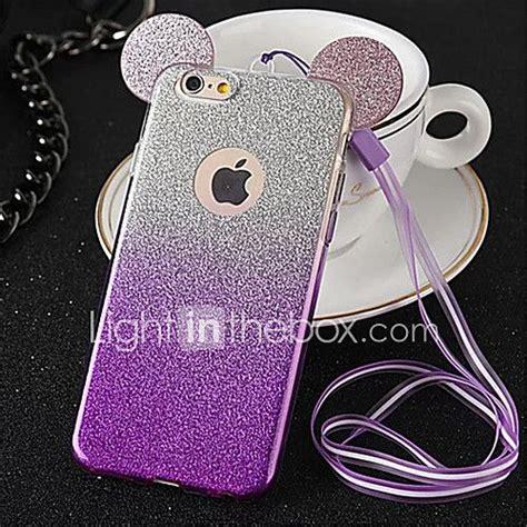 funda para apple iphone 8 iphone 8 plus iphone 6 plus funda trasera brillante suave tpu para