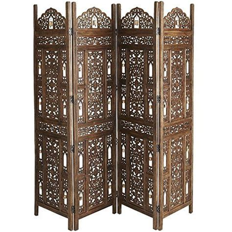 Room Dividers India Buy Shilpi Wooden Partition Mango Wood Room Divider