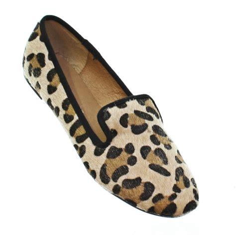 cheetah loafers womens womens leopard print slipper loafer flats pumps
