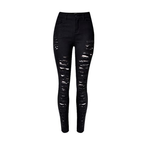 Black Ripped black distressed ripped
