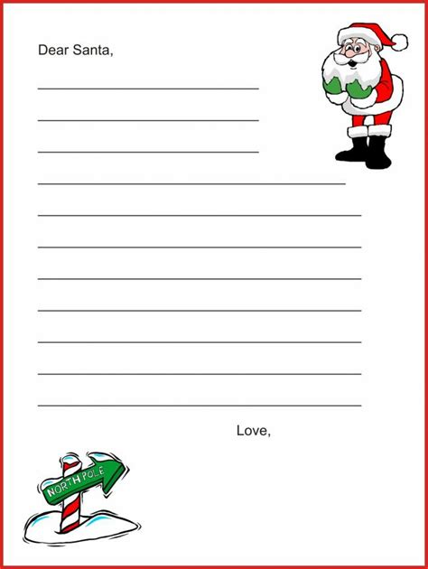 20 Free Printable Letters To Santa Templates Spaceships And Laser Beams Santa Letter Templates Free