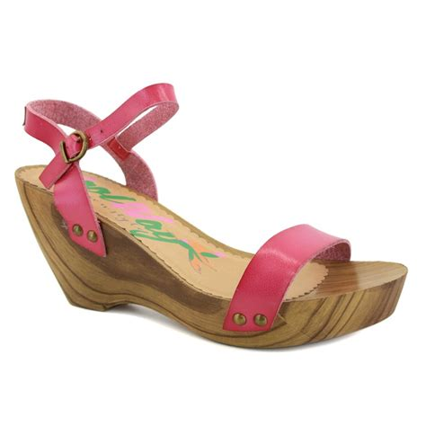 fuschia sandals coolway marylin womens leather wedges sandals fuschia