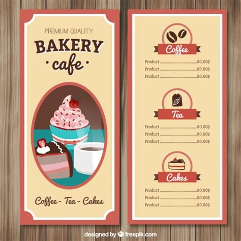 Cafe Menu Template Free by Cafe Menu Template Vector Free