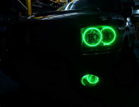Oracle Halo Lights 2006 dodge ram multi color oracle halo headlights fog