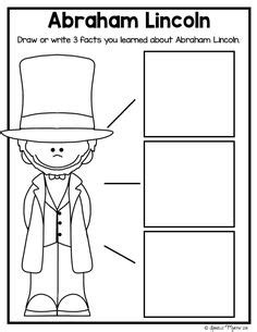 abraham lincoln biography first grade george washington unit for president s day kindergarten