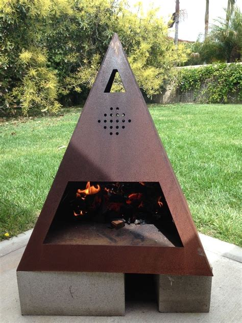 Best 25  Metal chiminea ideas on Pinterest   Modern
