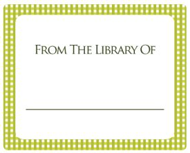 Free Printable Bookplates Templates by Bookplate Labels For Free In Printable Templates
