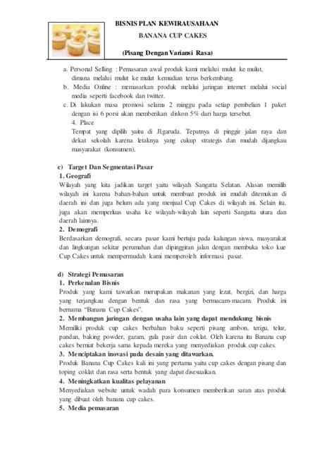 format bisnis plan kewirausahaan bisnis plan tugas kewirausahaan moses hadun