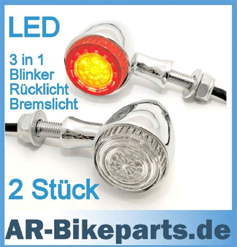 Motorrad Led Blinker Eintragen Lassen by Led R 252 Cklicht Blinker 3 In 1 Chrom Colorado Harley Xl