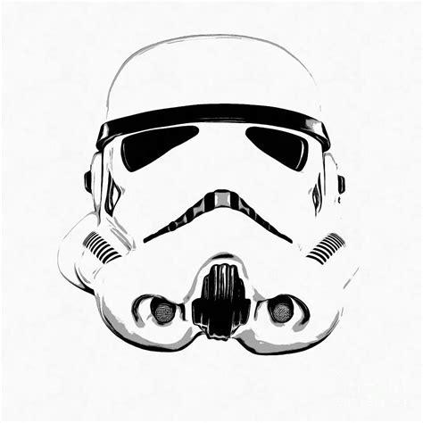 Stormtrooper Helmet Drawing wars stormtrooper helmet graphic drawing drawing by
