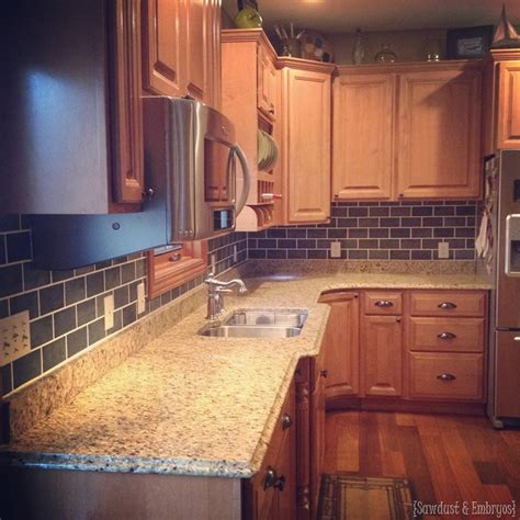How To Paint Tile Backsplash In Kitchen by Painted Backsplash Slate Subway Tiles