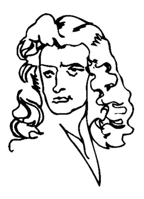galileo biography for middle school face cartoon isaac newton coloring page for kids kids
