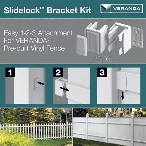 veranda zaun veranda 3 in x 3 in x 3 in white vinyl fence slidelock