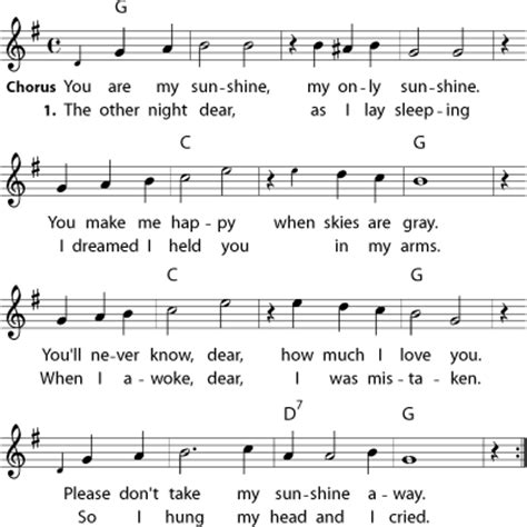 you are my sunshine lyrics printout midi and video arranged as a duet you are my sunshine