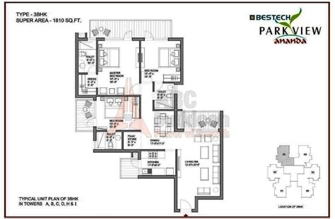 parkview floor plan bestech park view ananda floor plan floorplan in