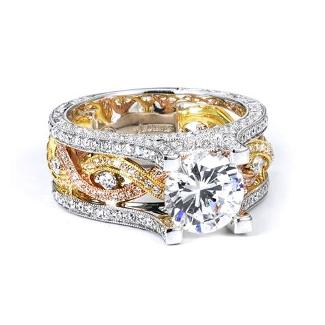 tri color gold and ring wedding promise
