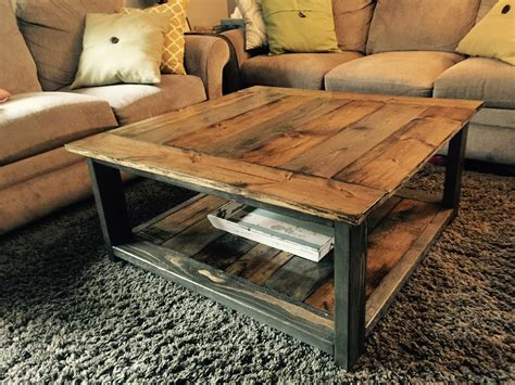build your own solid wood rustic coffee table white