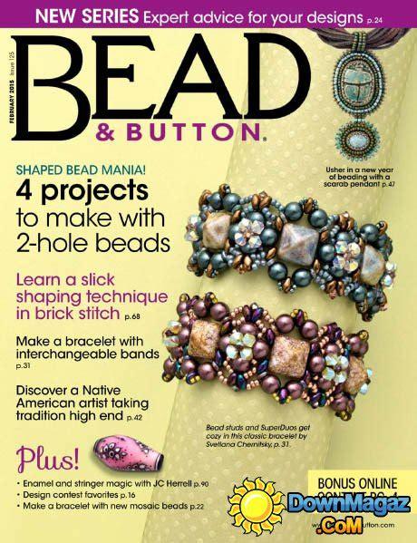 bead and jewellery magazine bead button february 2015 187 pdf magazines