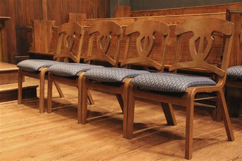 Church Choir Chairs: Oak Lock, Ply Harp, Ply Bent   Church