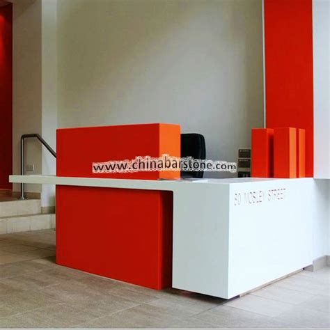 front office counter furniture shape corian reception desk furniture office front
