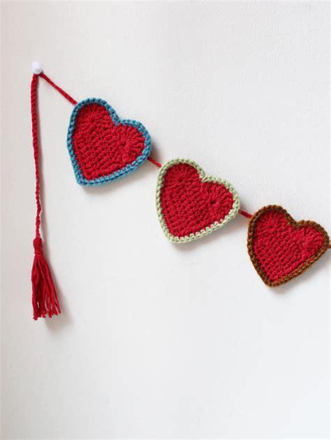 heart garland pattern valentine crocheting how to make a heart garland