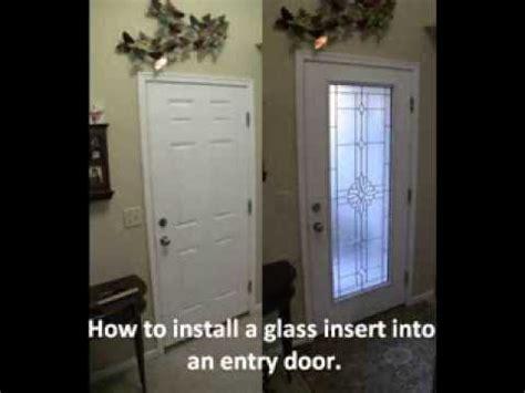 Adding A Window To Exterior Entrance Door Doovi Adding Glass To Front Door