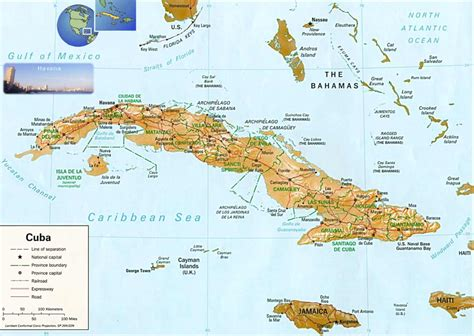 physical map of cuba cuba physical map mapsof net