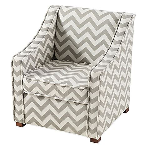 chevron chairs tree house chevron chair in grey white buybuy baby