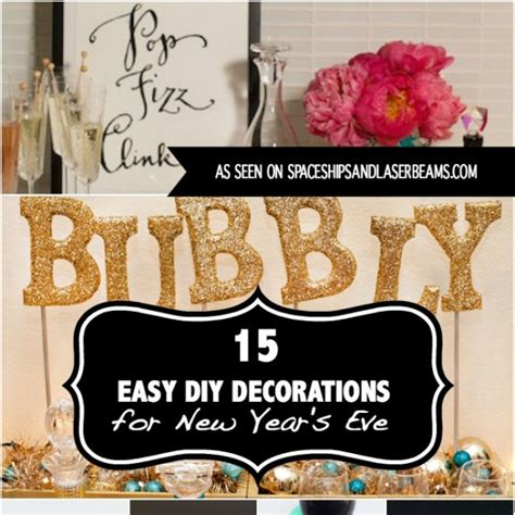 new year 2016 decorations diy 15 easy diy decorations for new year s 2016