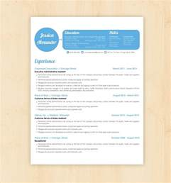 Best Resume Design Templates – Shapely Blue resume template   edit easily in Word   https