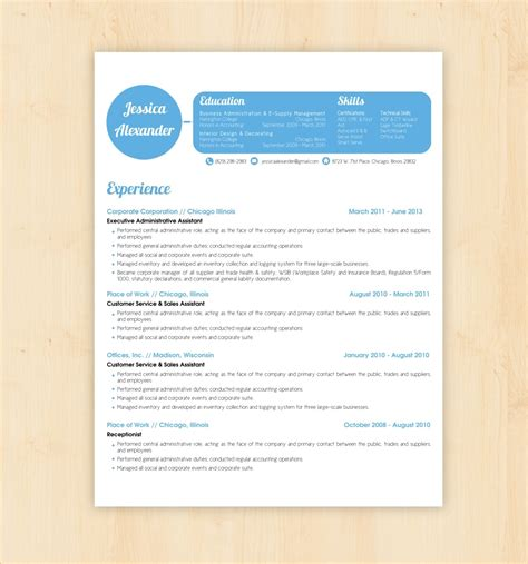 free template cv template word design resume builder