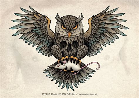 owl chest piece tattoo designs sams owl chest