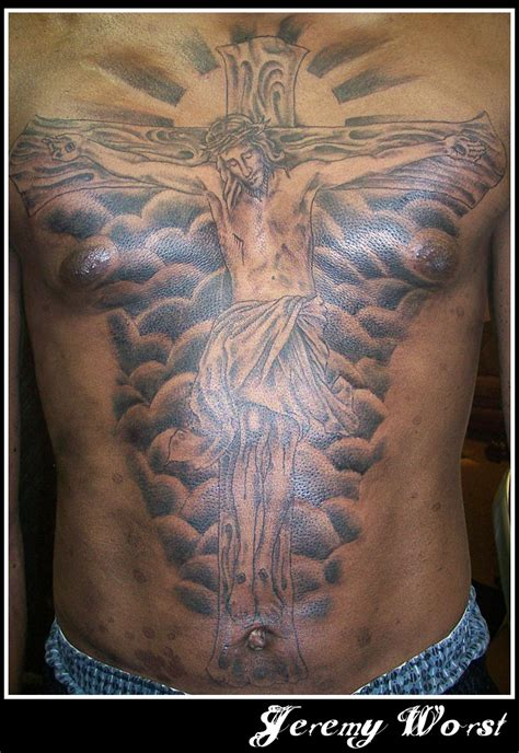jesus piece tattoo jesus chest by jeremyworst on deviantart