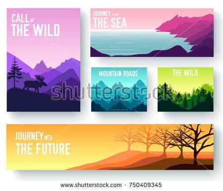 nature brochure template or flyer design stock nature vector brochure cards set ecology stock vector