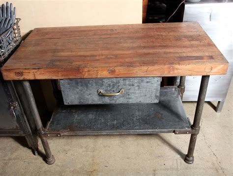 Antique Kitchen Work Tables Vintage Industrial Kitchen Work Table At 1stdibs