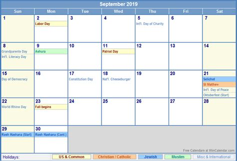 september 2019 calendar september 2019 calendar with holidays 2018 calendar