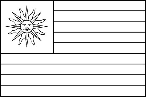coloring pages for uruguay uruguay flag coloring picture