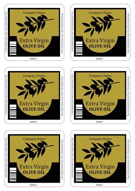 Olive Oil Labels Templates Olive Labels Templates