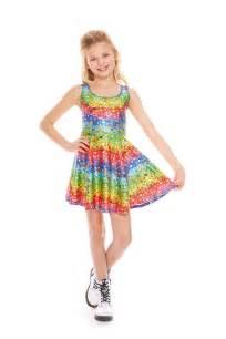zara terez girls emoji rainbow skater dress