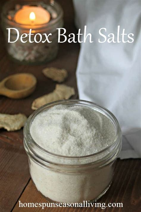 Detox Sweat Bath by Detoxifying Bath Salts Homespun Seasonal Living