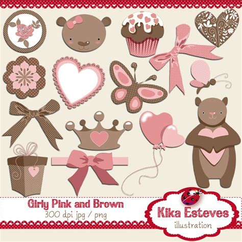 girly browning wallpaper girly pink and brown digital clipart 15 high resolution