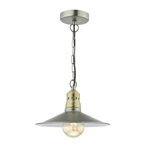 Fisherman Ceiling Light Fisherman Nautical Style Ceiling Pendant Two Tone Chrome And Brass